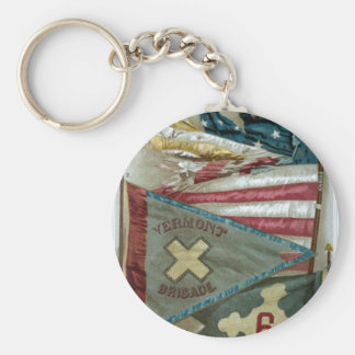 Famous Union Battle Flags - Plate 1 - Keychain
