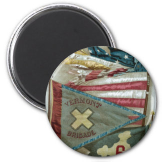 Famous Union Battle Flags - Plate 1 - Magnet