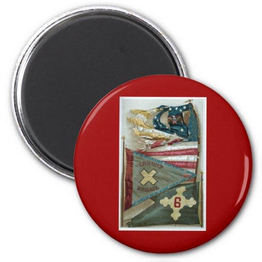 Famous Union Battle Flags - Plate 1 - Magnet
