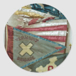 Famous Union Battle Flags - Plate 1 - Stickers
