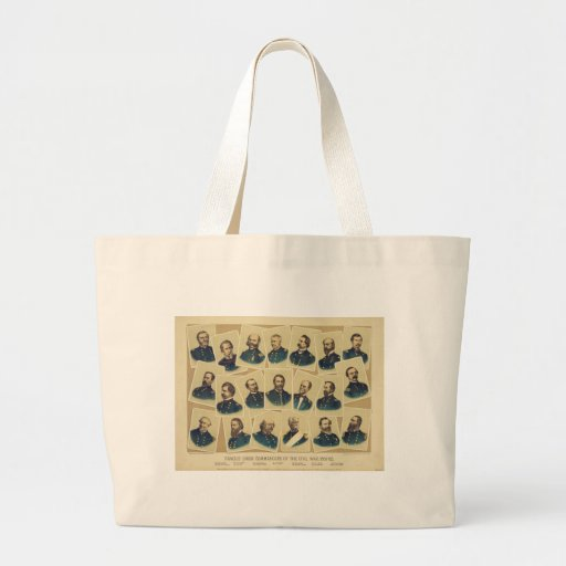 Famous Union Commanders of the Civil War Canvas Bags