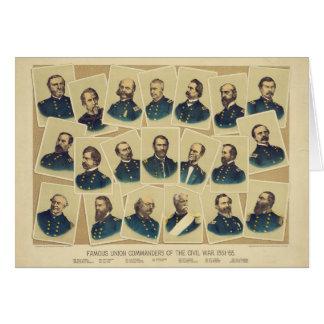 Famous Union Commanders of the Civil War Card