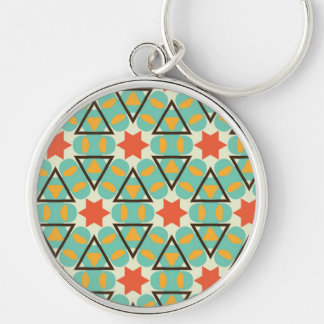 Famous Valued Poised One Silver-Colored Round Keychain