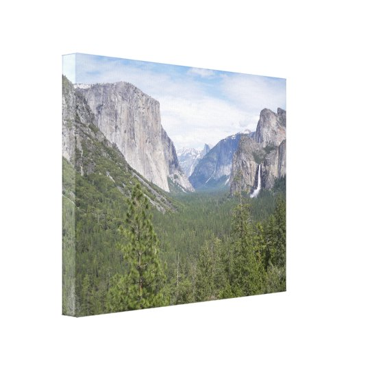 Famous View of Yosemite Wrapped Canvas