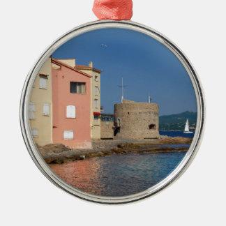 Famous village Saint Tropez in France Metal Ornament