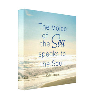 FAMOUS VOICE OF THE SEA SPEAKS TO THE SOUL QUOTE CANVAS PRINT