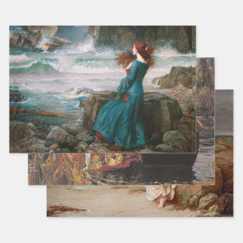 FAMOUS WATERHOUSE HEAVY WEIGHT DECOUPAGE PRINTS WRAPPING PAPER SHEETS