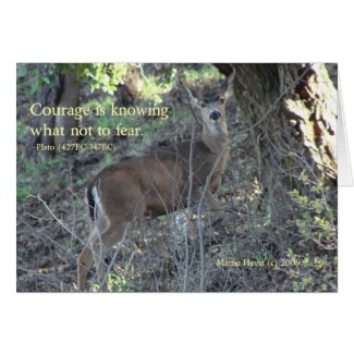 Famous Words: Courage - Deer Greeting Card