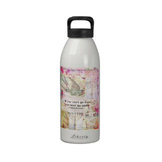 Famous Yiddish proverb with Judaica themed art Water Bottle