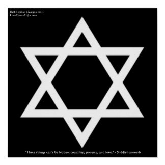 Famous Yiddish Quote Regarding Love Poster by Rick Print