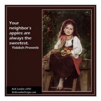 Famous Yiddish Saying & Graphic Poster Poster