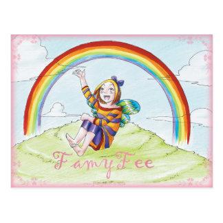 Famy hada tarjeta postal - hada de arco iris