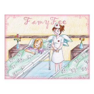 Famy hada tarjeta postal - hada de enfermera