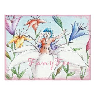 Famy hada tarjeta postal - Lillienfee