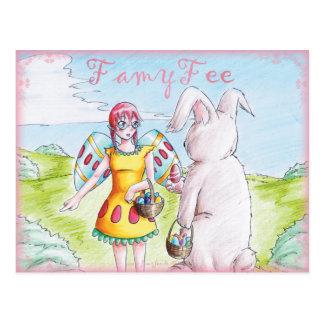 Famy hada tarjeta postal - Osterfee