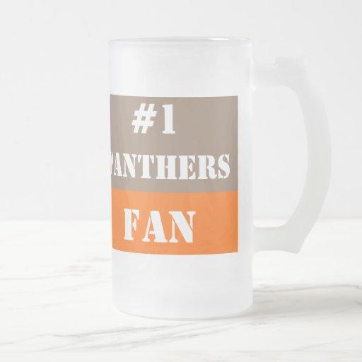 Fan #1 marrón clara y anaranjada taza de cristal