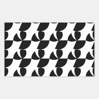 Fan abstracta pegatina rectangular