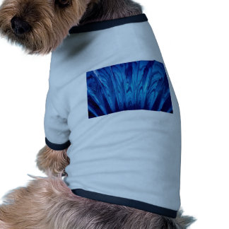 Fan azul colorida camisetas de mascota