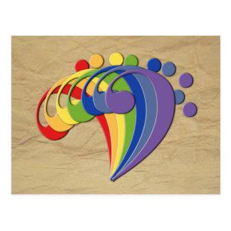 Fan Bass Rainbow Postcard