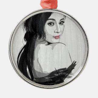 Fan Bing Bing Metal Ornament