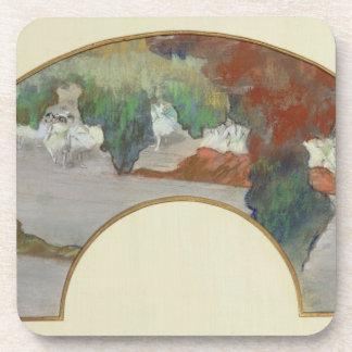 Fan, c.1879 (gouache & pastel on silk) drink coasters