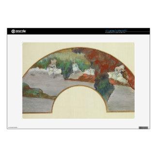 Fan, c.1879 (gouache & pastel on silk) laptop skin