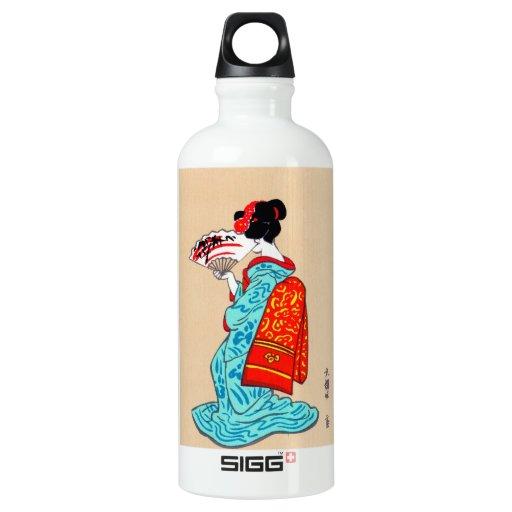 Fan clásica japonesa fresca del kimono de la
