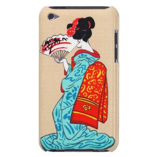 Fan clásica japonesa fresca del kimono de la señor iPod Case-Mate coberturas