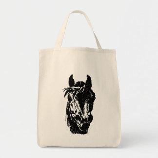 Fan Club Horse Head Grocery Tote Bag