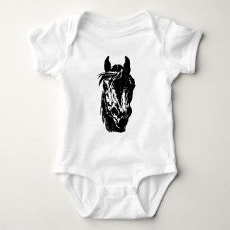 Fan Club Horse Head Infant Creeper