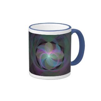 Fan coloreada multi del fractal tazas de café