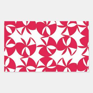 Fan colorida abstracta pegatina rectangular