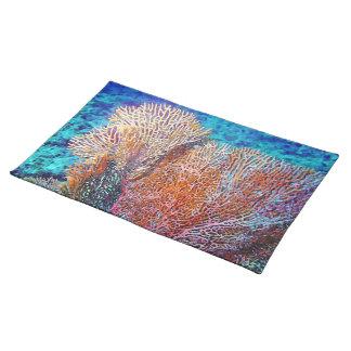 Fan Coral Cloth Placemat