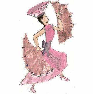 Fan dancer cutout