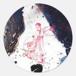 """""""Fan Dancer Detail"""" Classic Round Sticker"""