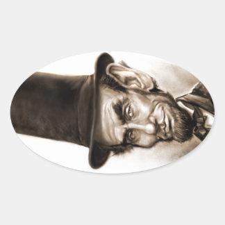 Fan de Abe Lincoln Pegatina Ovalada