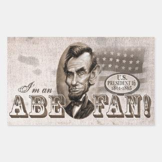Fan de Abe Lincoln Pegatina Rectangular