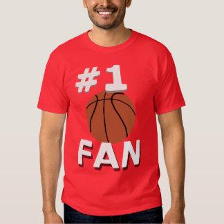 Fan de baloncesto del número 1 camisas