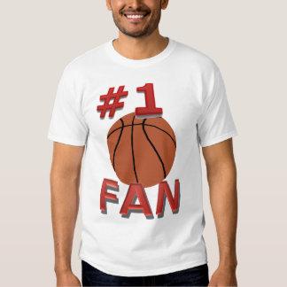 Fan de baloncesto del número 1 playera
