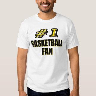 Fan de baloncesto del número uno playera
