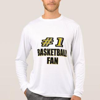 Fan de baloncesto del número uno playeras