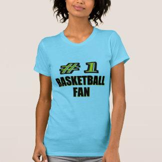 Fan de baloncesto del número uno poleras