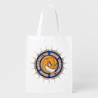 Fan de baloncesto insana bolsas reutilizables