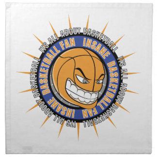 Fan de baloncesto insana servilleta imprimida
