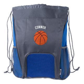 Fan de baloncesto mochila de cordón