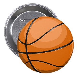 Fan de baloncesto pin redondo de 3 pulgadas