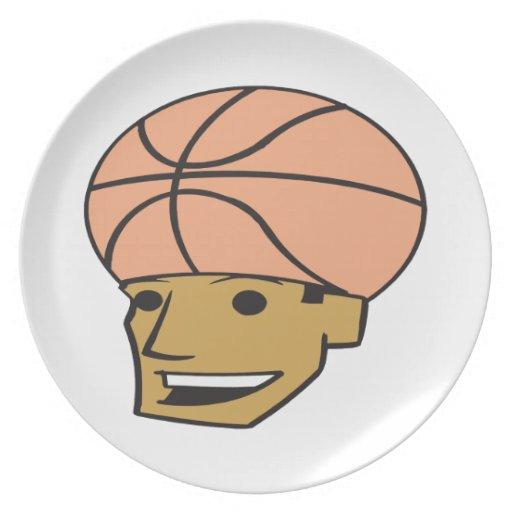 Fan de baloncesto plato de comida