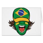 Fan de deportes brasileña felicitación