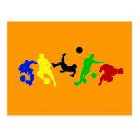 Fan   de deportes del fútbol de los jugadores de f postales