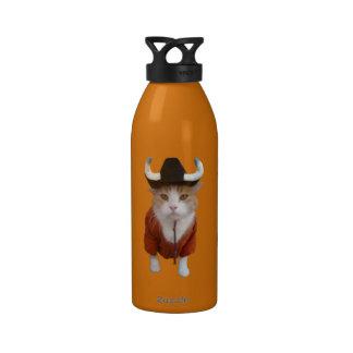 Fan de deportes divertida del gato botellas de agua reutilizables